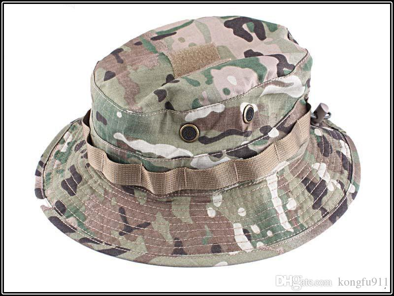 5e5e0adcf90 2019 Hot Sale Summer Boonie Cap Hunting Hat Outdoor Sports Tactical Cap  Grid Fabric Camouflage MC Flat Hat Women Casquette Snapback From Kongfu911