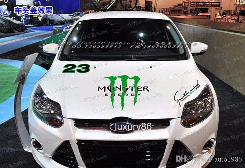 A Set auto motor power vehicle truck green Car Truck Decal Vinyl WRC 23 Totem Graphics Side Decal Body Sticker