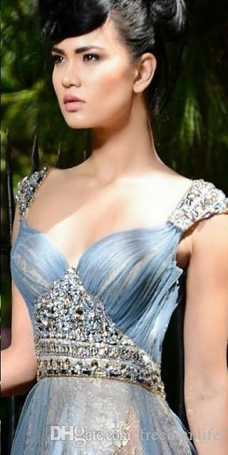 Formal Side Split Evening Dresses Lace Beads Sweetheart Neck Pleats Tulle Floor Length Prom Party Gowns Beauty Pageant Dress 2017