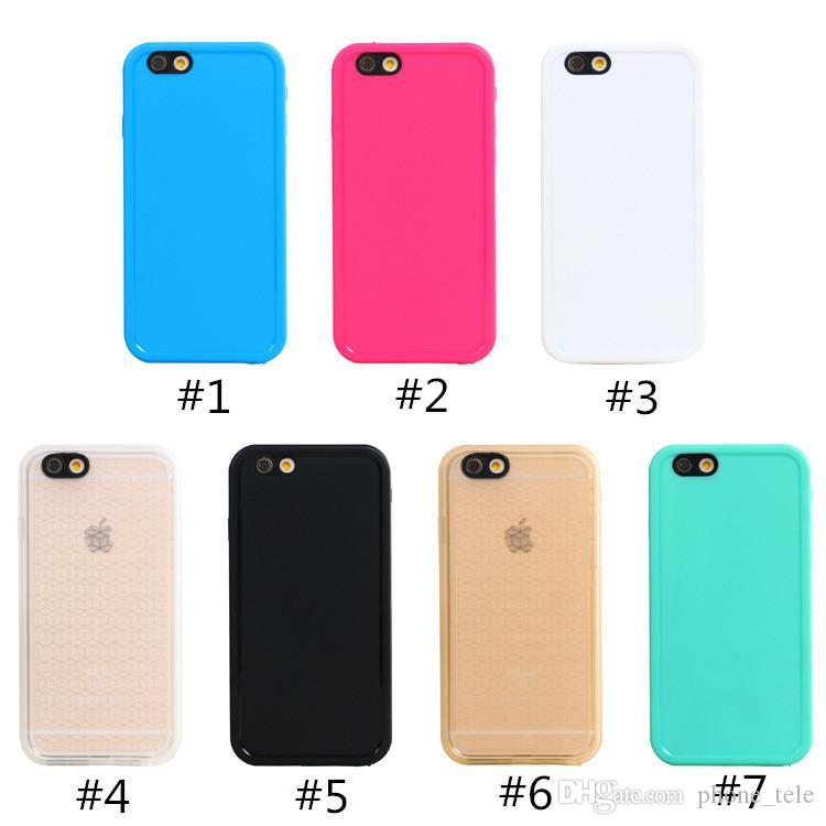 For Iphone 7 Case Waterproof TPU Rubber Cases 100% Sealed Underwater Diving Shock-proof Case Cover for Iphone 6 6s 7 plus 5s SE iphone7