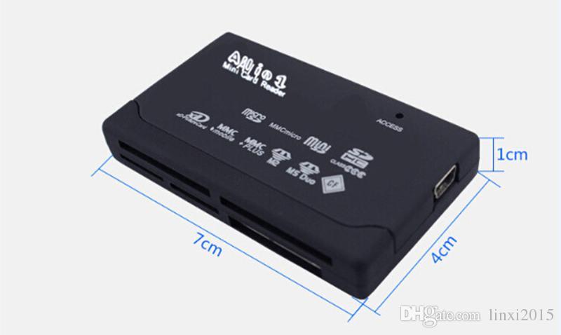 Universal Multi en 1 tout en un lecteur de carte mémoire USB externe SD SDHC Mini Micro M2 MMC XD CF livraison gratuite