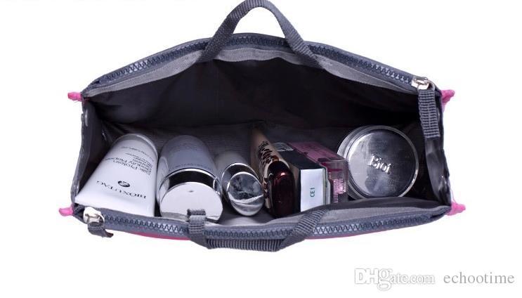 Echootime 12 цветов 500шт двойной мешок в сумке женщины вставить сумочку организатор кошелек макияж чехол для хранения лайнер сумка аккуратные путешествия вставить сумки для хранения