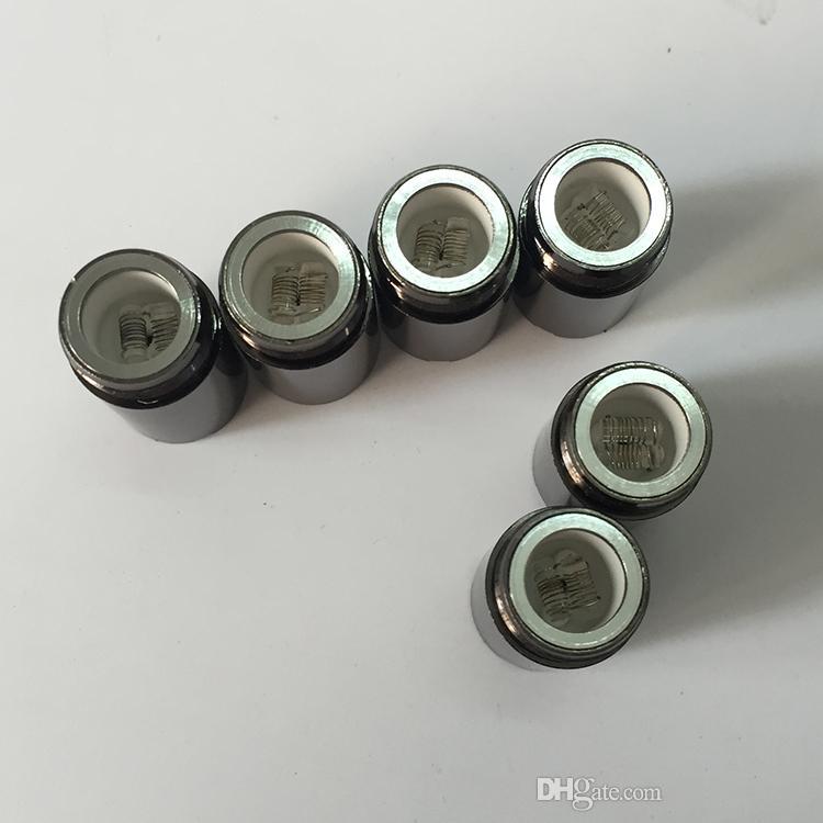 Cabeça de bobinas reconstrutíveis frigideira Puffco pro substituição Atomizador câmera de haste de cerâmica vaporizador de cera de bobina VS canhão de vidro globo D bobinas