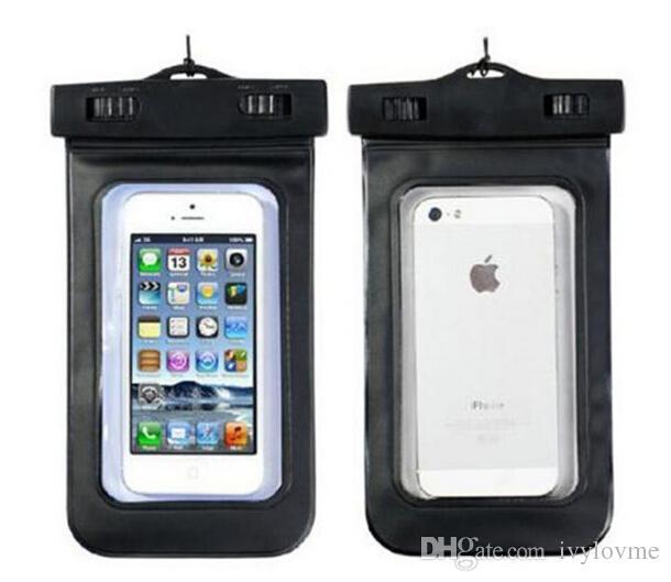 Universal Transparente À Prova D 'Água Caso Bolsa À Prova De Água Saco Tampa Subaquática adequado para todo o telefone celular Iphone Samsung