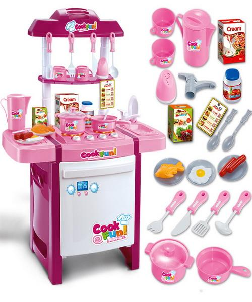 Toys Kitchen Children Simulation Play House Utensils Infants Young ...