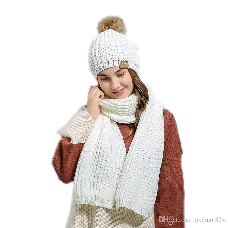 447cb7d4dd5 2019 Womens Girls Ladies Winter Warm Thicken Crochet Knitted Scarves Hats  Sets Suit For Outdoor Skiing Sports Driving Activities From Dxyuan824