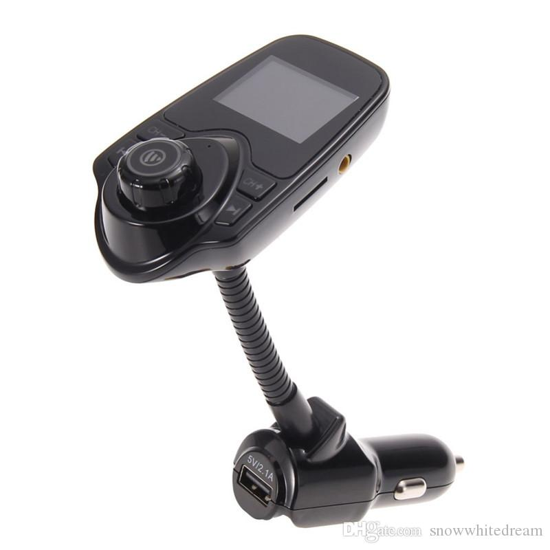 2016 супер Bluetooth автомобильный комплект T10 громкой связи FM передатчик MP3 музыкальный плеер 5 в 2.1 A USB автомобильное зарядное устройство поддержка Micro SD Card 1G-32G