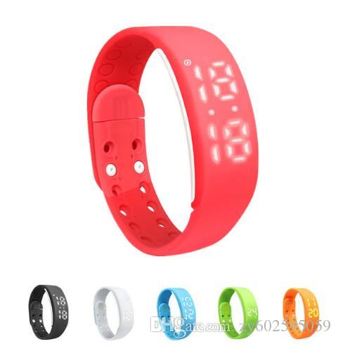 Smart Wristband Fitness Bracelet W2 Bluetooth Watch Smartband Time/Calorie/3D Pedometer/Temperature/Sleep Monitor Sport Tracker