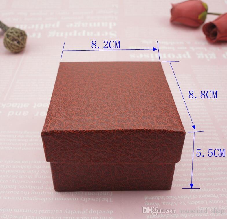 Assista Caixa com almofada caixas de jóias de luxo para casos de exposição Pulseira Tornozeleira Estampagem Caixa de armazenamento de bugigangas Wristwatch Boxes