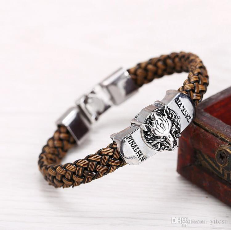 New Men Leather Jewelry Bracelet Game of Thrones Game of men a song Ice and Fire The jewelry Leather Braided Bracelet Gift