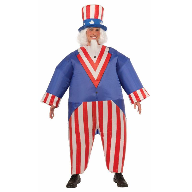 Adult Halloween Cosplay Inflatable Uncle Sam Costumes Funny Party ...