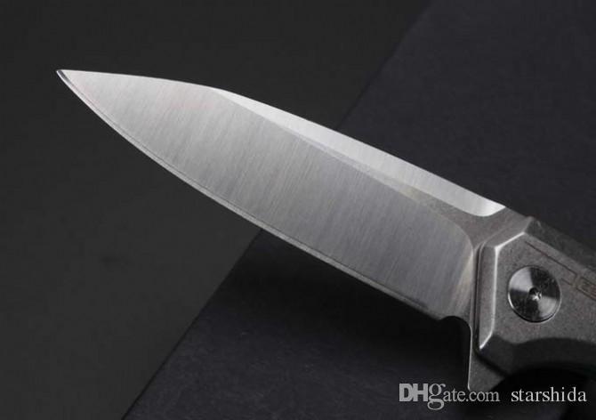 Zero tolerance ZT0808 Tactical Folding Knife D2 Blade KVT Ball bearing System Steel Titanium Alloy Handle Camping Survival Pocket Knife EDC