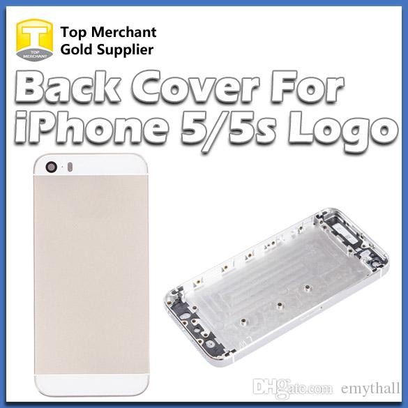 Pour iPhone 5 5G Back Cover Housing Battery Case Back Door Replacement Téléphones portables Pièces Noir Blanc Or Couleur