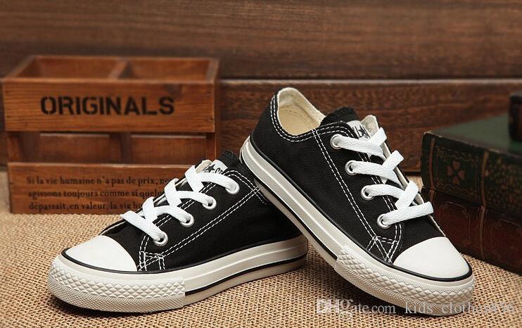 Livraison gratuite taille UE 24-34 Nouvelle marque enfants chaussures de toile de mode haute - chaussures basses garçons et filles sport chaussures de sport enfants chaussures