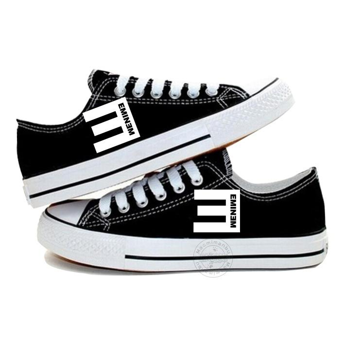 New Arrival Eminem Logo Canvas ,Outdoor Leisure Fashion Sneakers,Unisex Casual  Shoes Hot Items Hiphop Marshall Bruce Mathers Bad Guy Hot Items Fashion ...