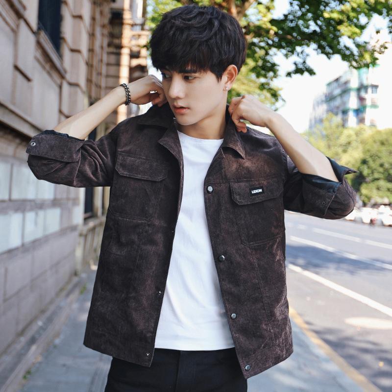 Compre 2017 Novos Homens Jaqueta Casual Outono Coreano Bonito Moda Jaqueta  Casaco Cor Tendência Da Personalidade Em Vão De Peisi c2751e1fc2e