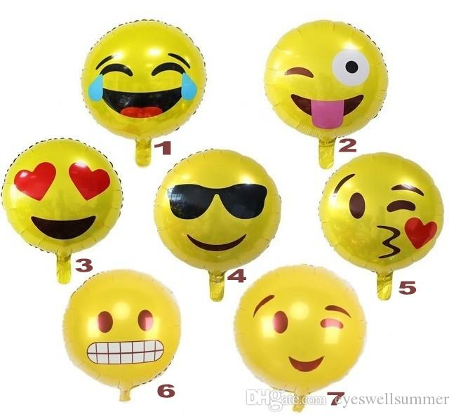Acheter 18 Expression Ballons Emoji Feuille Ballon Joyeux