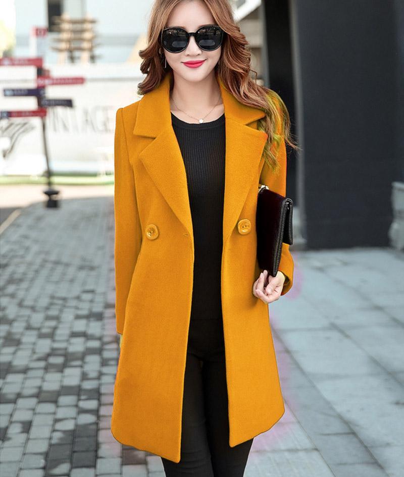 435d438f8db 2019 Plus Size Women Wool Coat Long Warm Winter Women S Coat European  Cashmere Blend Fashion Jacket Outwear From Adaluo0710