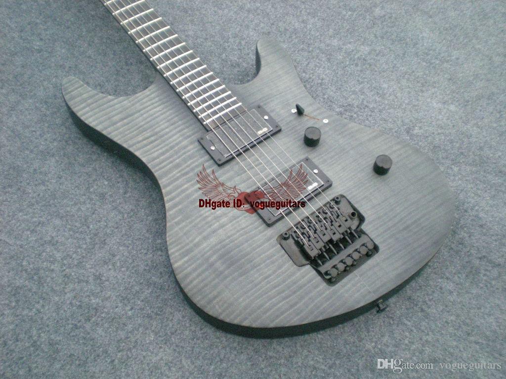 최신 사용자 정의 6 문자열 일렉트릭베이스 회색 기타 한 조각 몸 중국어 기타