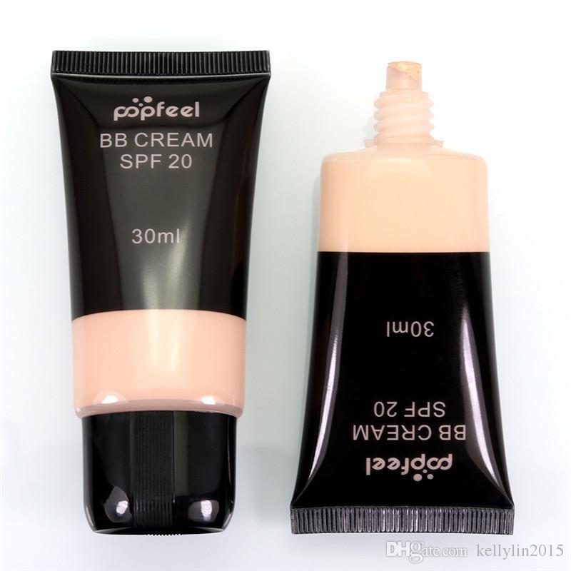 Popfeel Face BB Cream CC Cream SPF 20 Concealer Liquid Foundation Makeup Waterproof Nude Primer Base Cosmetics