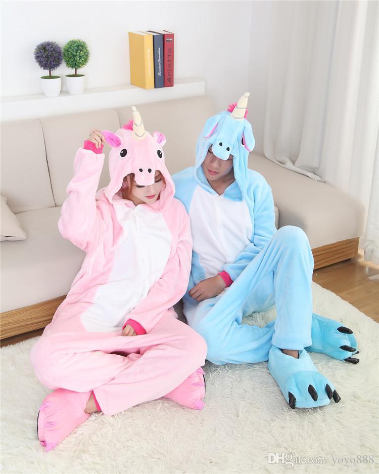 Señoras para hombre Pegasus cosplay Animal Animal Onesies Onsie Mono Pijamas Pijamas 1012 S / M / L / XL / XL