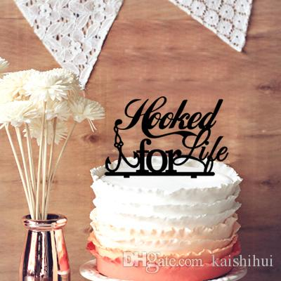 2019 Beautiful Weeding Gift Hooked For Life Fishing Silhouette