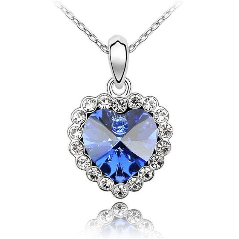 Mulheres de jóias bridal colar coreano Alto grau de Acessórios de Moda coração de cristal pingente feito com Swarovski Elements envio gratuito de 1603