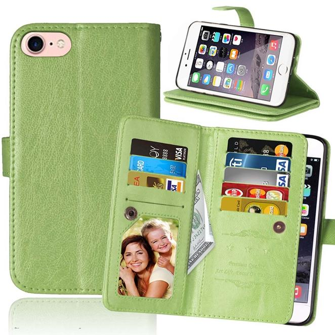 9 карт многофункциональный бумажник кожаный чехол для Iphone 8 7 плюс MOTO G4 X стиль игры Z XT1650 роскошный мешок денег кошелек выдвижная крышка 1 шт.