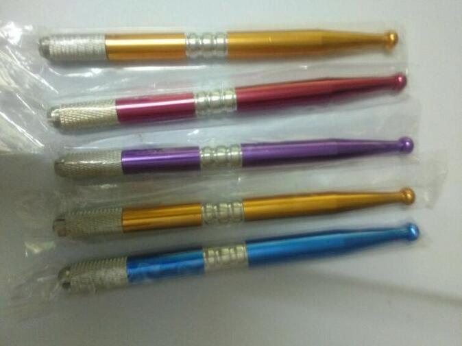 5 stücke Neue Stil Permanent Manuellen Augenbrauen Make-Up Tattoo Maschine Stift Mischfarben