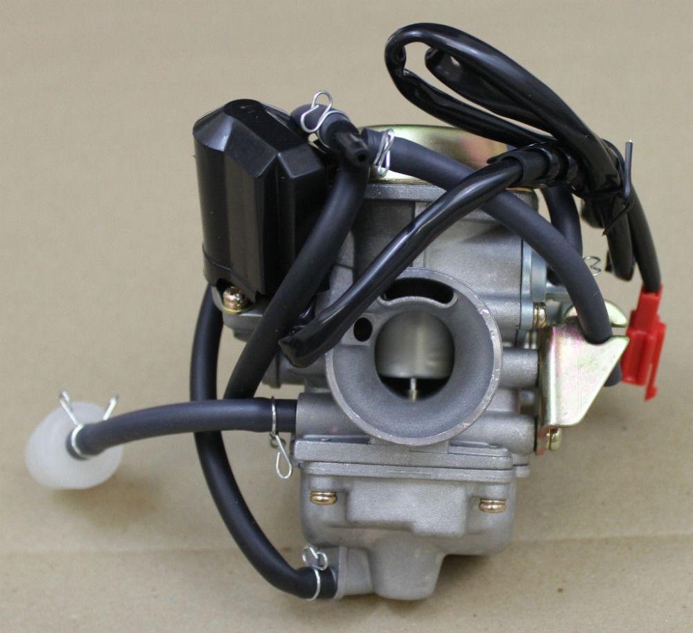 Wholesale- 24mm Carb Carburetor GY6 125cc 150cc 150 Scooter Roketa SUNL GY6  4 Stroke PD24J