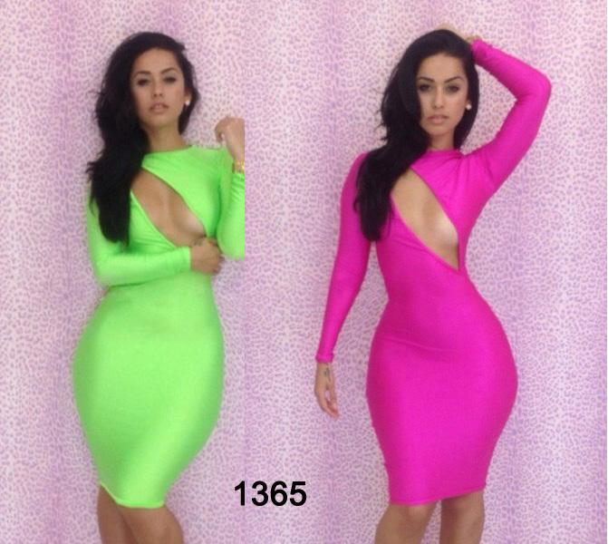 Sexy Women's Clothing Bandage Bodycon Party Dresses Lady Fashion V-neck Party Cocktail Dresses Long Sleeve Club Dress wear Mix Colors Deals