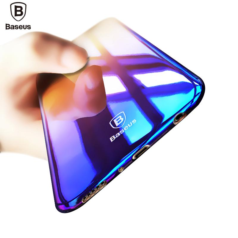 size 40 b29ba 314b6 Baseus Brand Luxury Case For Samsung Galaxy S8 / S8 Plus Aurora Gradient  Color Transparent Hard PC Cover For Galaxy S8 S 8 Plus
