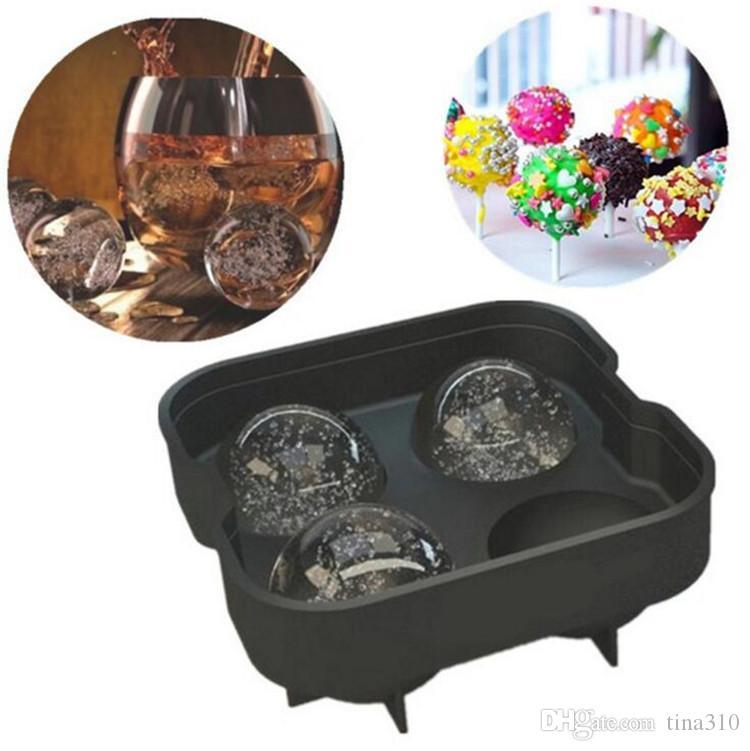 Vendita calda Bar Drink Whisky Sphere Grande rotonda Ice Ball Ice Brick Cube Maker vassoio stampo Stampo in vendita Life IB440