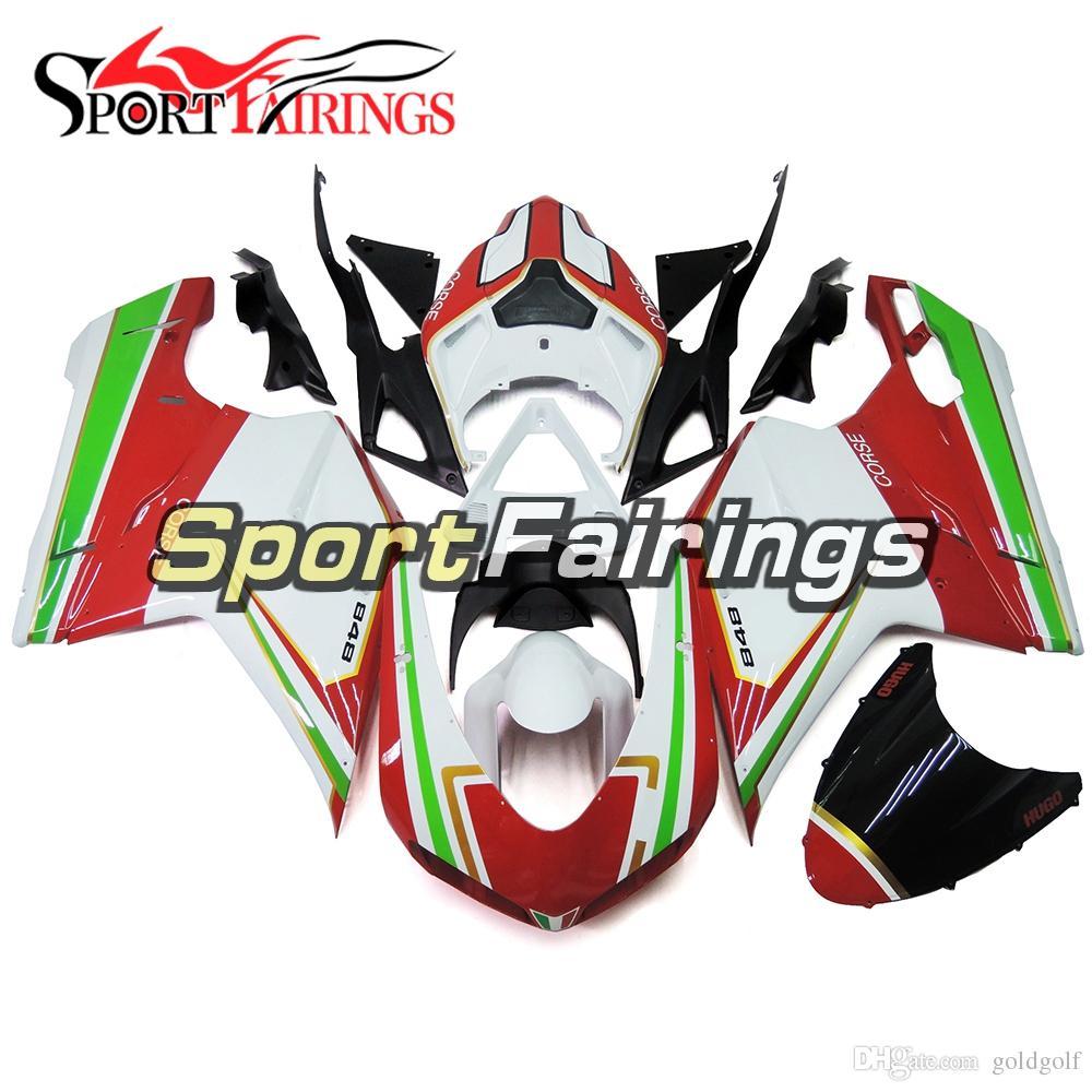 08 Rouge 1198 10 11 Vert 09 12 Abs Pour Ducati 07 Carénages Plastiques Injection Blanc 1098 Sportbike Foncé 848 eW2bHIE9YD
