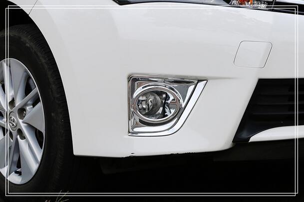 ! High quality ABS chrome rear fog lamp cover, rear fog light trim for Toyota Corolla 2014