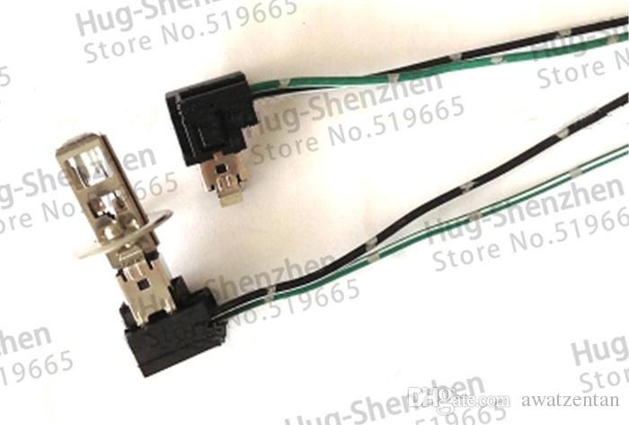Alta qualidade H1 H3 suporte da lâmpada plugue conector com cabo para lâmpada de cabeça Auto H1 H3, não incluem a lâmpada