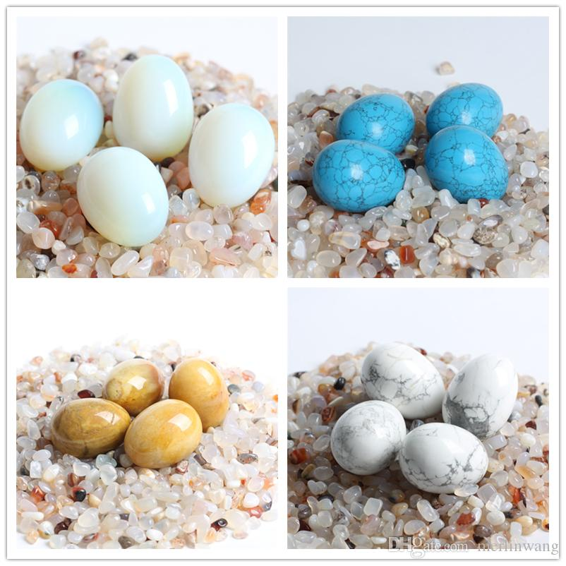 wholesale natural crystal egg Carved quartz gemstone eggs Chakra Healing Reiki Crafts stone decoration FREE WOOD STAND
