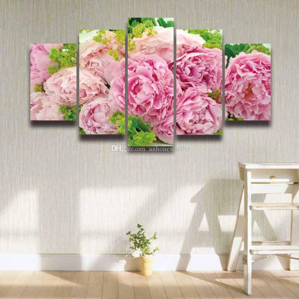 2018 printed pink peonies flower painting on canvas modern wall 2018 printed pink peonies flower painting on canvas modern wall picture for home decor living room sofa background panel painting from anhonestseller mightylinksfo Gallery