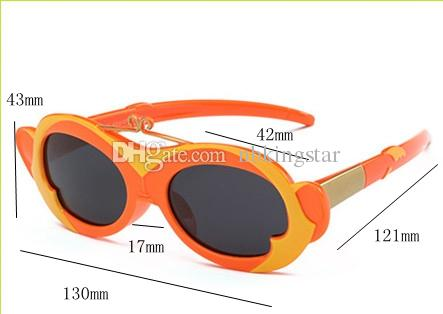 6 цветов новые дети поляризованные солнцезащитные очки детский день дети мягкие гибкие обезьяна очки мальчики девочки солнцезащитные очки 6 шт. / лот