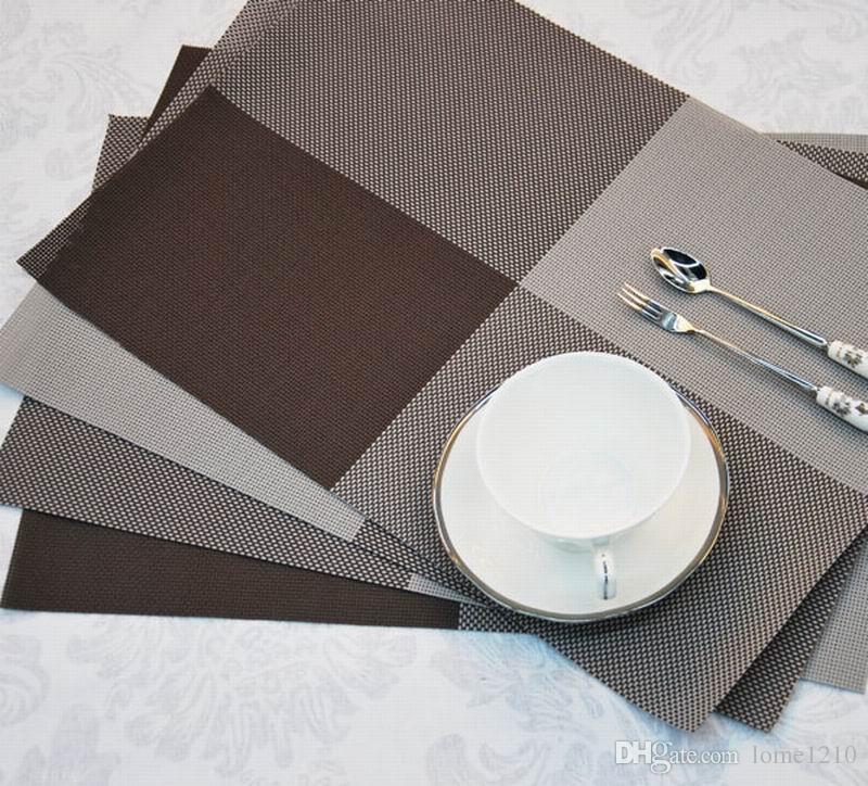 Toptan 40 adet / grup Ev Masa Dekorasyon Aksesuarları Isı yalıtımlı Sofra PVC Chic Placemat Mutfak Yemek Kase su geçirmez Ped Mat