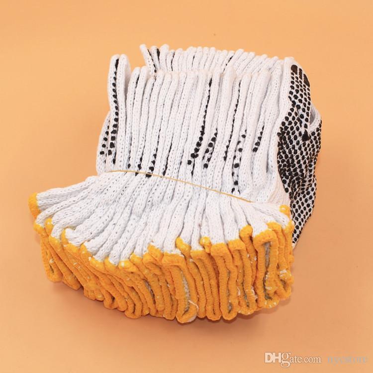 -resistente ao desgaste luvas de segurança de algodão antiderrapante luvas de trabalho Luvas de segurança resistente ao desgaste anti-derrapante 22cm * 14cm