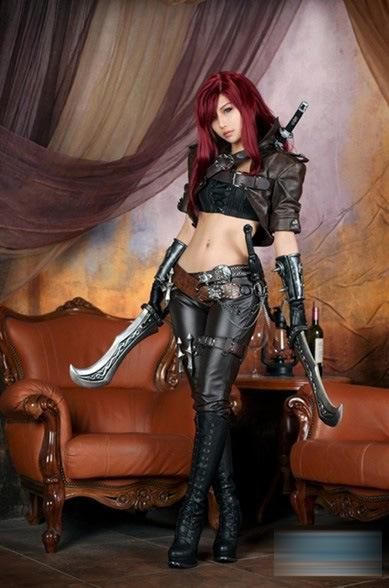 League Of Legends Lol Katarina Cosplay Full Suit For Halloween ...