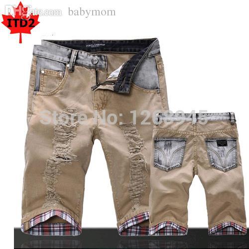 2017 Wholesale Hot Sale Khaki Denim Shorts Men Fashion Casual Mens ...
