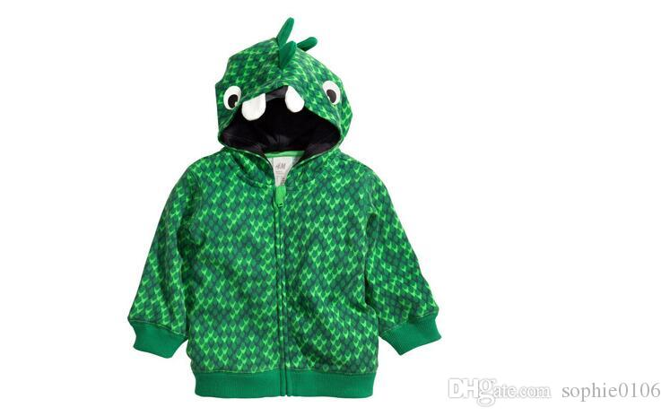 Erkek Çocuklar Dinozor Hoodies Erkek Dinozor Giyim Ceketler Mont Çocuk Sonbahar Hoodies Erkek Bebek giysileri Hoodies KM 001