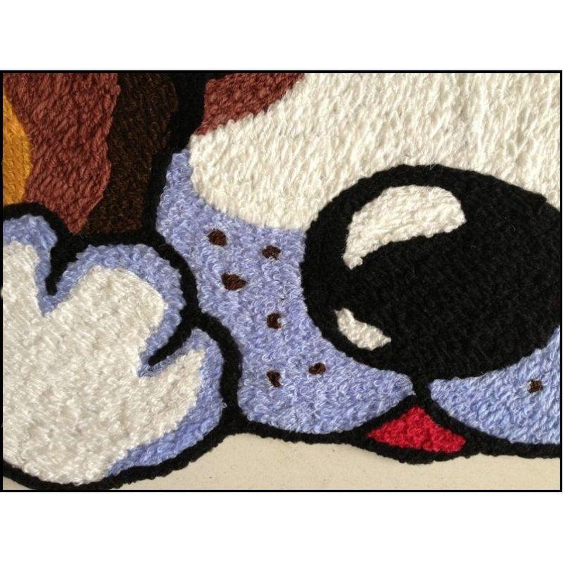 Personalità mano Hooked novità cucciolo Mat Living Porta Mats, New ricamato portico Zerbino Piano Karpet Camera Tappeti regalo