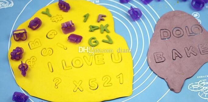 Chegam novas Carta Do Alfabeto Número Fondant Bolo Biscuit Cozimento Molde Cortadores de Biscoitos