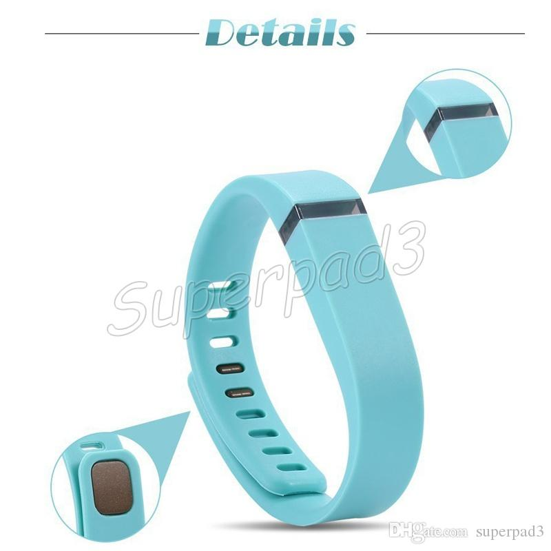 Fitbit Flex Bracelet Wristband Replacement Rubber Wearable Straps Band Metal Clasp Smart Bracelet Band Small Large Size DHL
