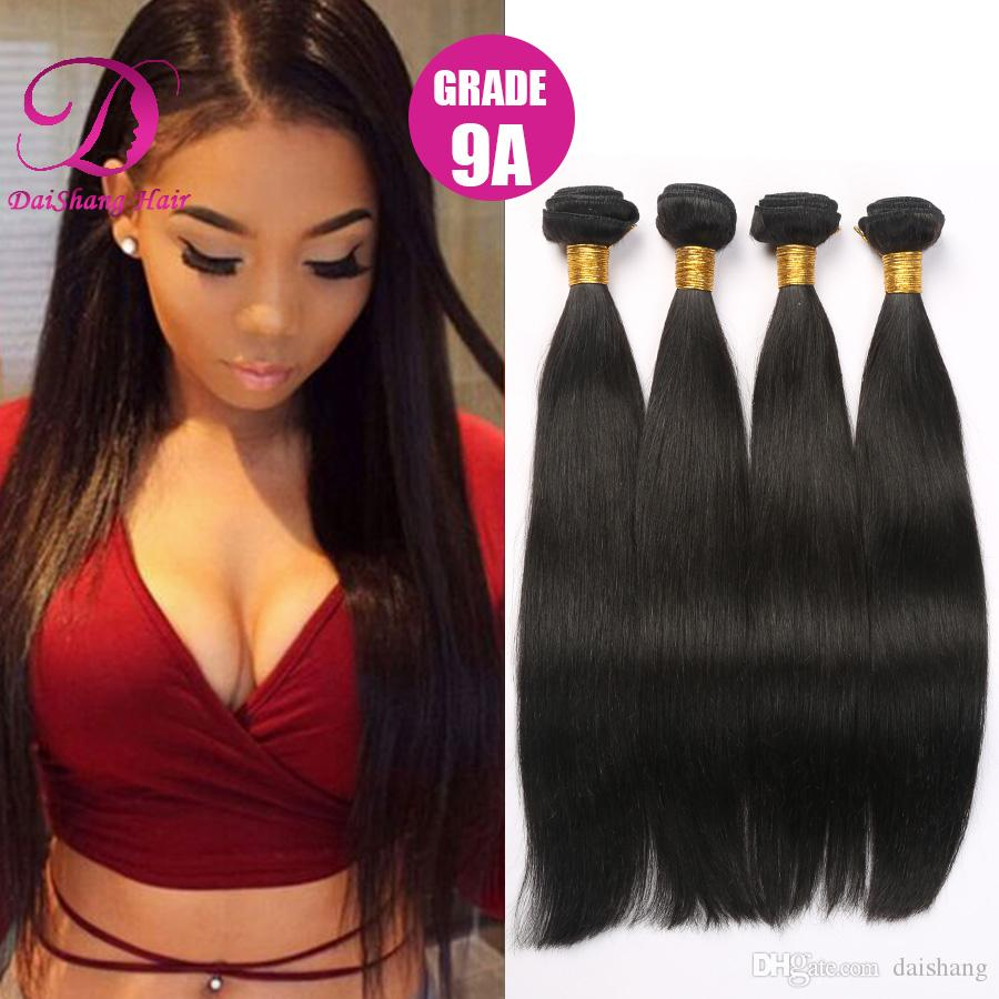 Brazilian Hair Straight Young Girl Hair Weaves Natural Color