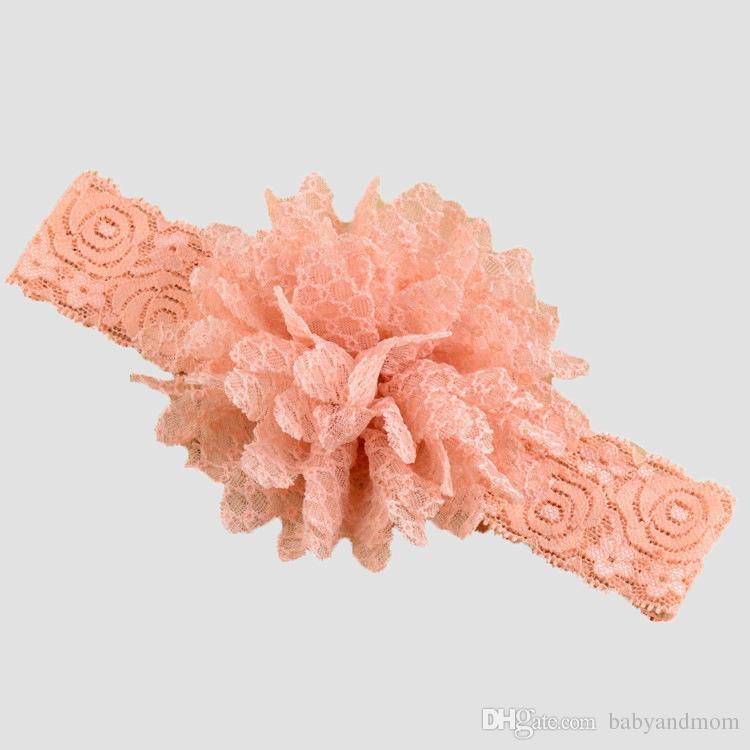 es Diademas de encaje elástico Niños Accesorios para el cabello Diadema de flores para niños Cosas de pelo Accesorios para el cabello para bebés Accesorios para niños