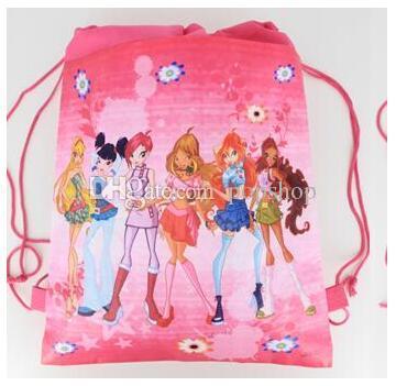 Nuovo stile! Winx Club moda zaino scuole popolari borse di buona qualità del fumetto della tela bambini zaino spedizione gratuita